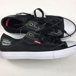 Levi's Men's Stan Buck Black Denim Sneakers